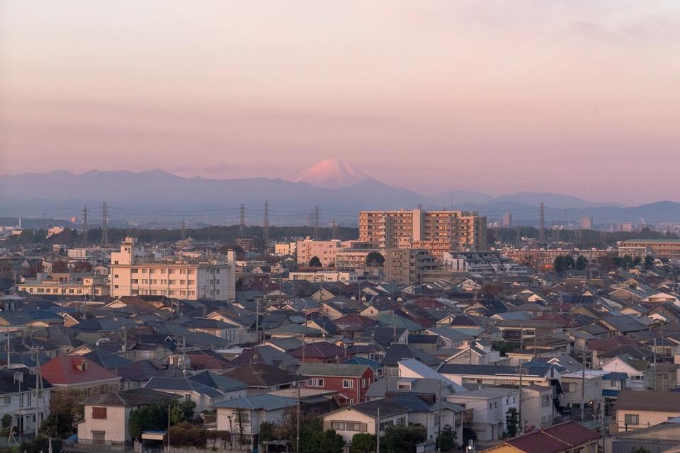 三鷹市内からの富士山